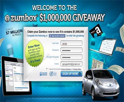 Zumbox million dollar giveaway