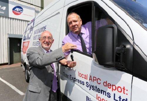 Prize van keeps courier firm's growth on Trax