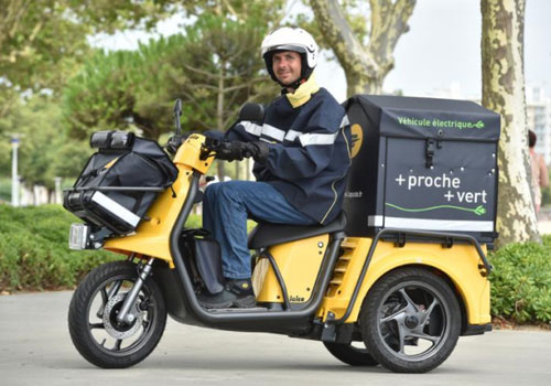 La Poste Group replaces scooters with electric three-wheelers