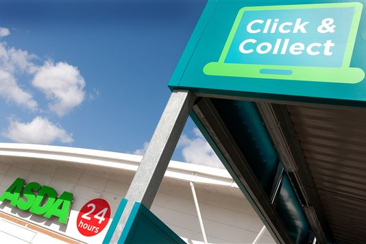 """Asda to open first """"intelligent Click and Collect pod"""" in June"""