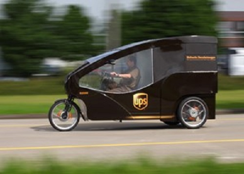 UPS testing electric cargo bike