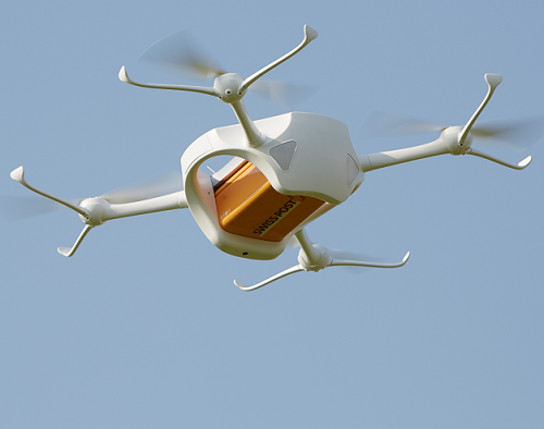 Swiss Post's medical drones lift off again