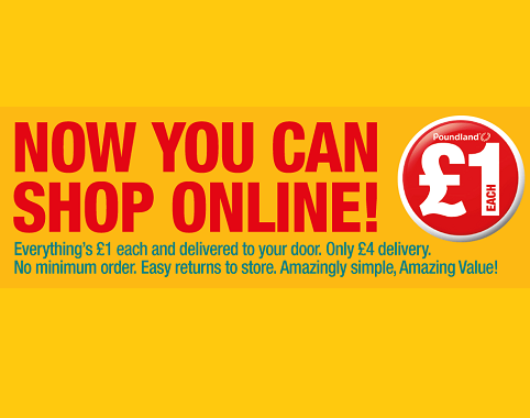 Poundland launches online store