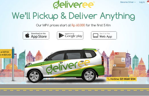 Deliveree now in Jakarta