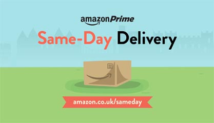 Amazon expands Prime Same Day coverage in the UK