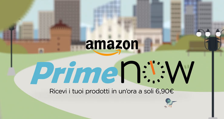 Amazon launches Prime Now in Italy