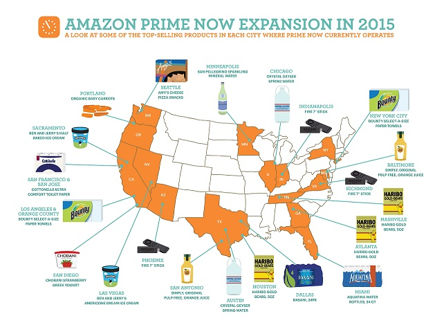 Amazon expands Prime Now product range and offers alcohol deliveries in Manhattan