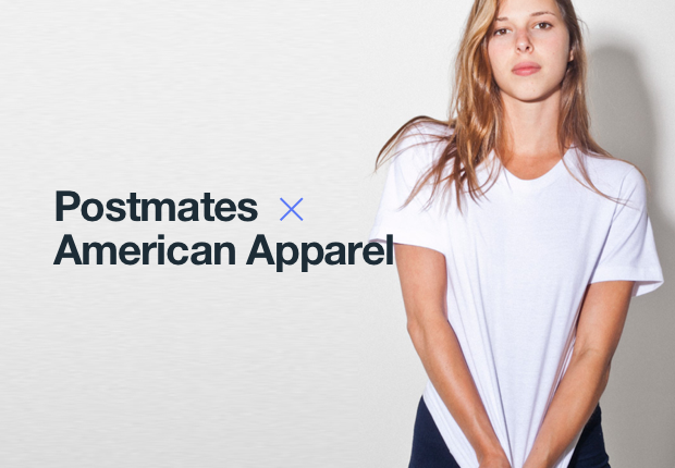 American Apparel using Postmates for one-hour delivery