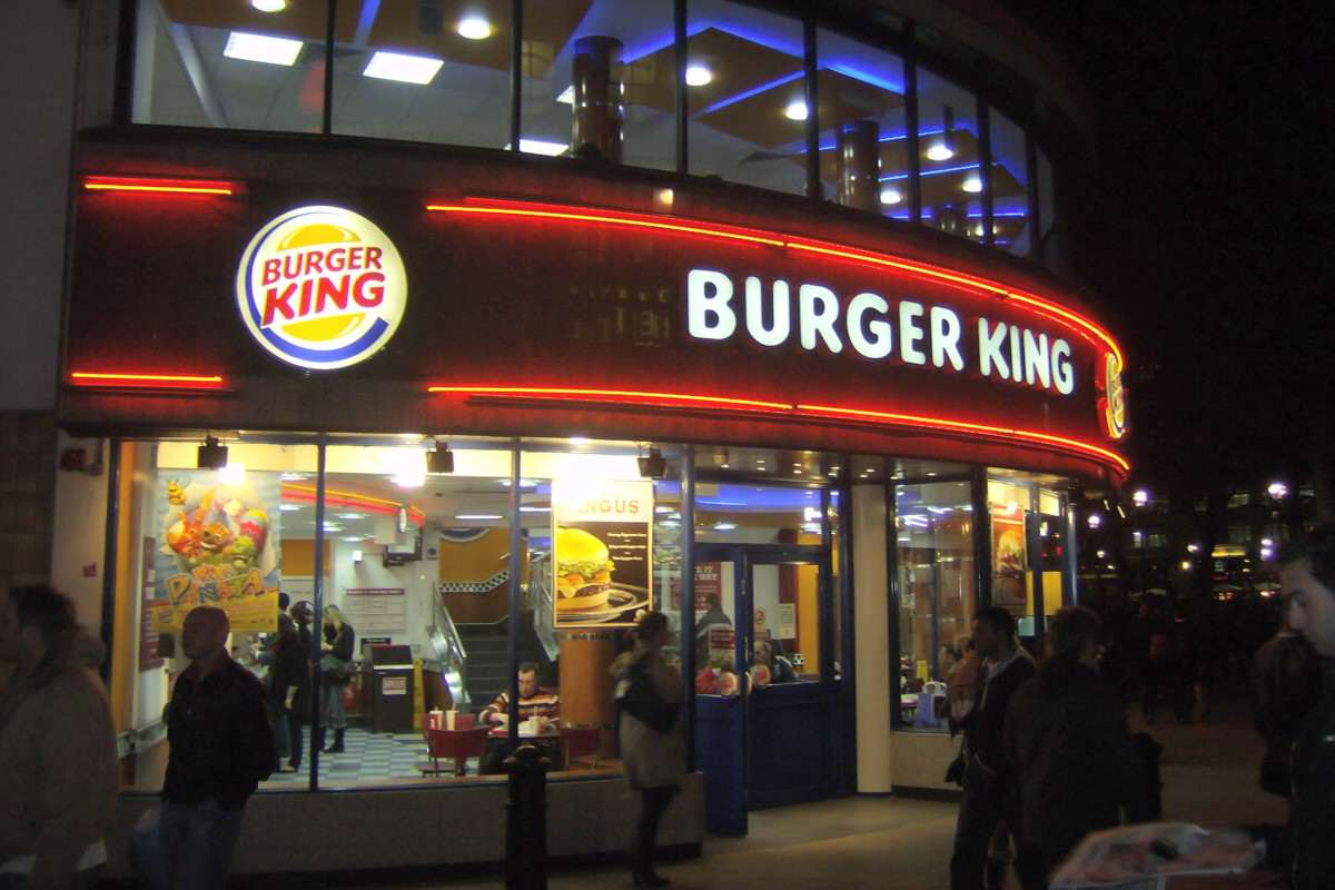 Stuart working with Burger King in London