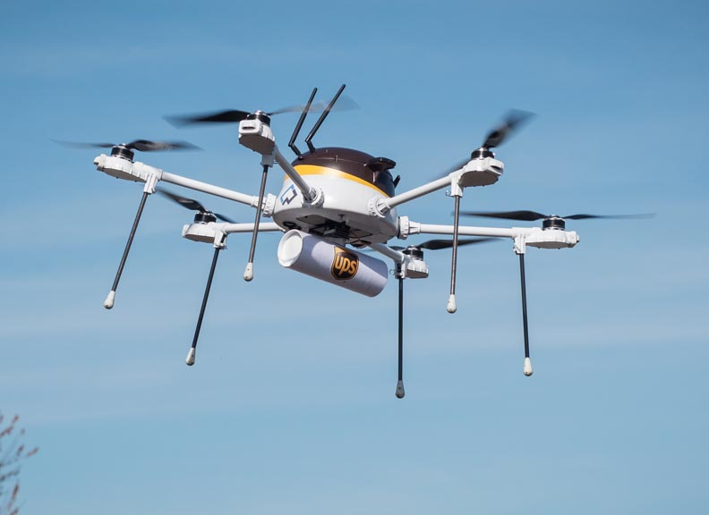 UPS running tests using drones for commercial deliveries