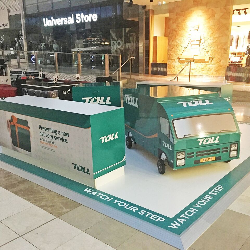 Toll launches pop-up delivery hubs in Westfield shopping centres