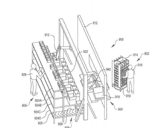 Amazon granted patent for robotic inventory system