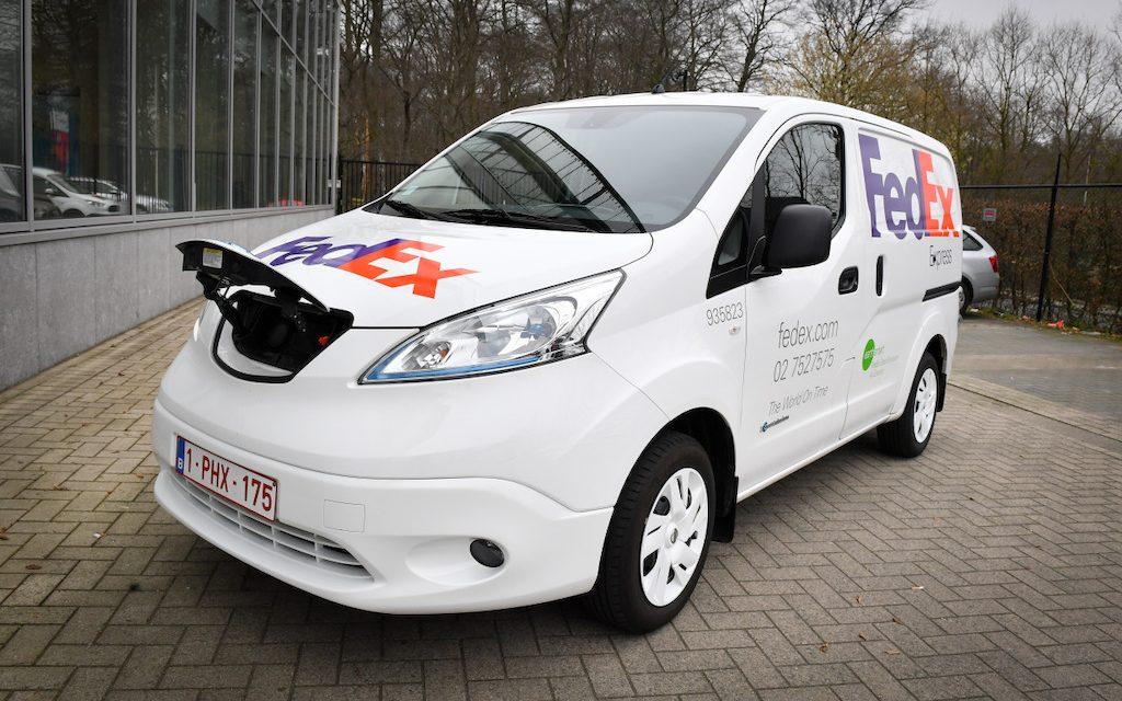 FedEx introduces all-electric vans to Belgium
