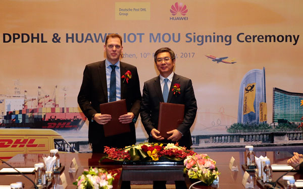 Huawei and Deutsche Post DHL agree IoT partnership
