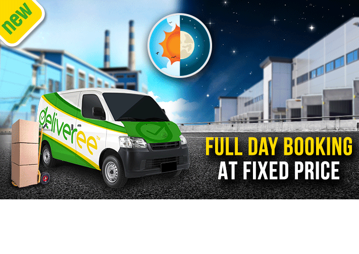 Deliveree offers full day service for fixed price