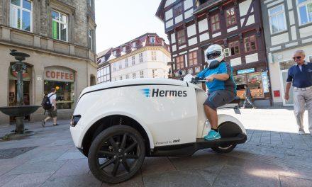 Hermes testing TRIPL trikes in Göttingen
