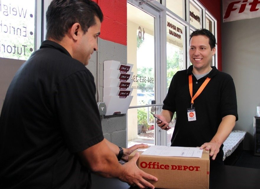Office Depot using Deliv for same-day delivery service