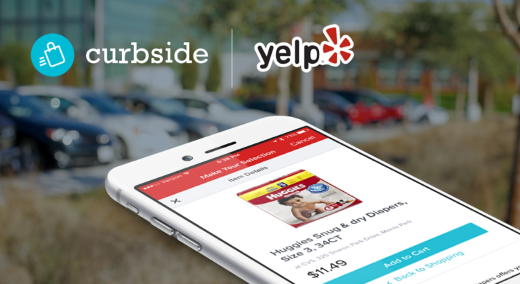 Curbside partners with Yelp for pick-up service