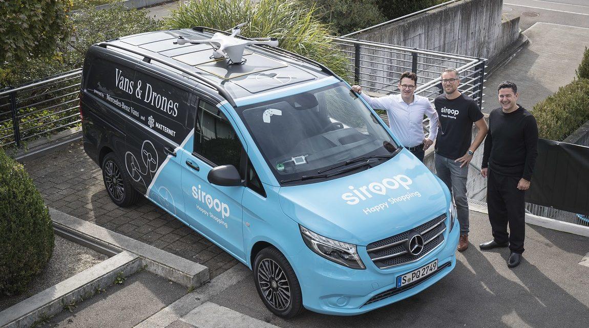 Vans&Drones delivery pilot begins in Zurich