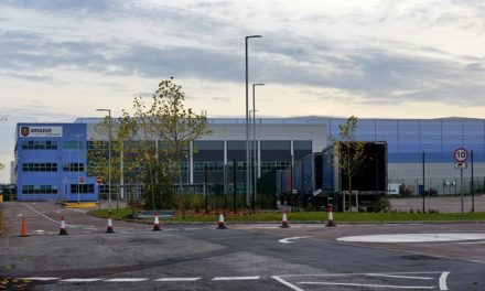 """Fire at Amazon's Rugeley distribution centre treated as """"suspicious"""""""