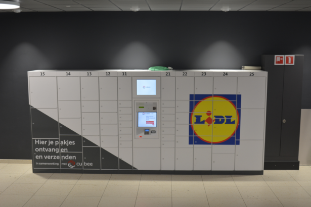 Lidl trialing Cubee lockers for grocery orders in three Belgian cities