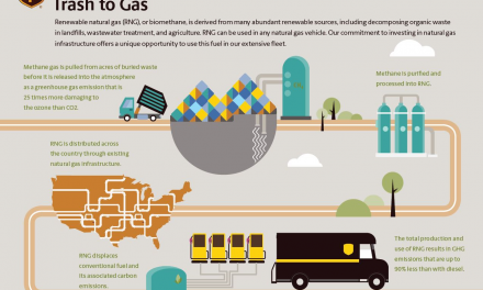 UPS steps on the renewable gas