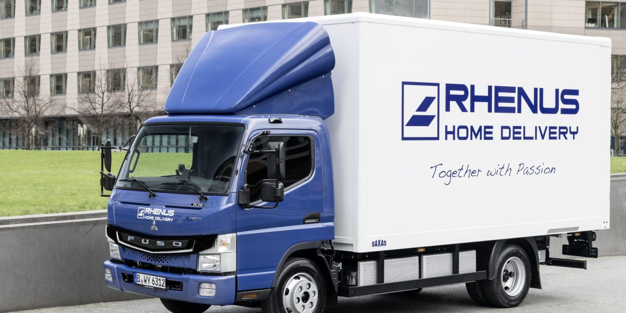 rhenus logistics testing fuso electric truck post parcel. Black Bedroom Furniture Sets. Home Design Ideas