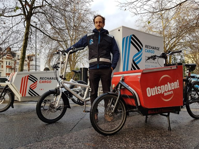 """Air pollution busting"" cargo bike service launches in London's Square Mile"