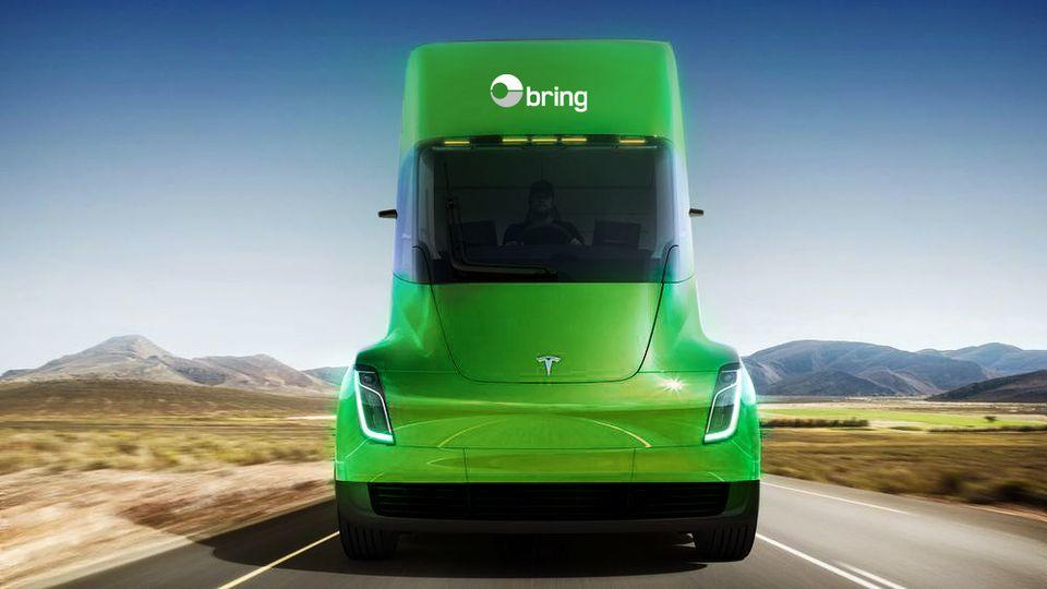 Posten Norge to take Tesla electric semitrailer