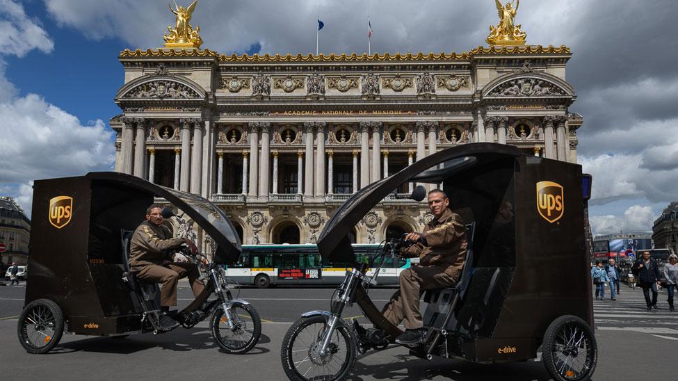 UPS trialing eBikes in Paris