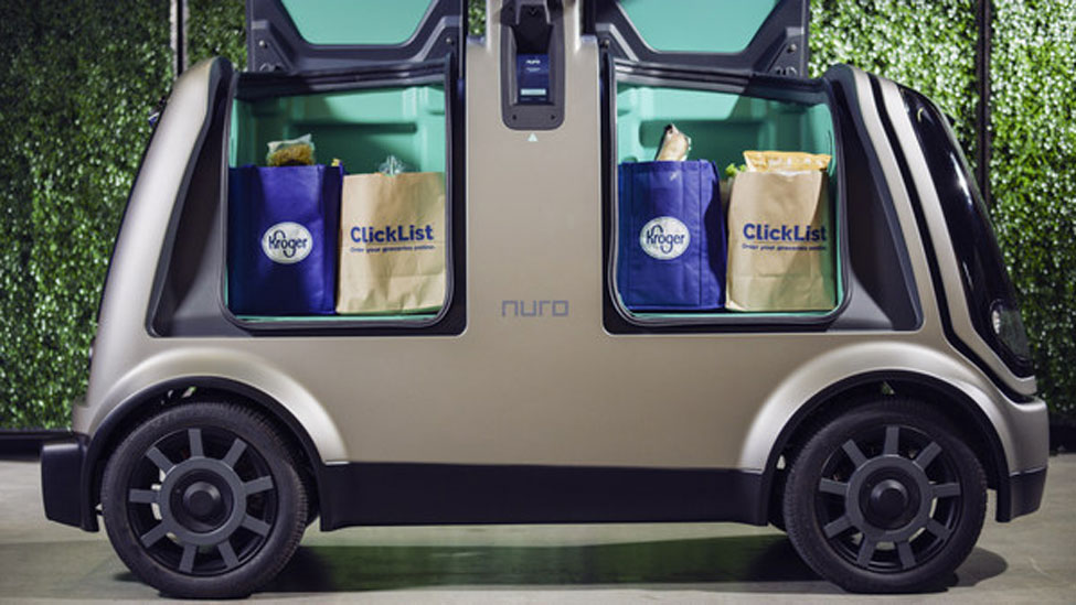 Kroger to trial Nuro robots for grocery delivery