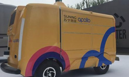 "Suning and Baidu Apollo unveil ""Microcar"" autonomous delivery van"