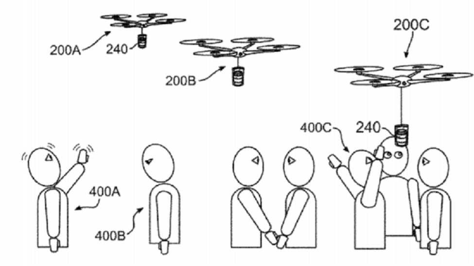IBM patent coffee delivery drone