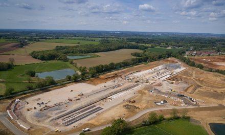 DPD's fifth UK hub starting to take shape