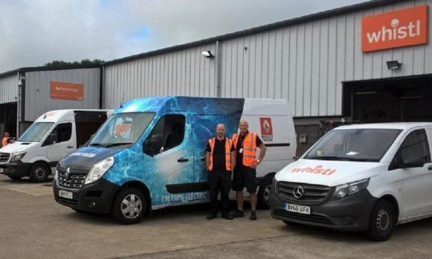 Whistl trials electric Renault truck in Belfast