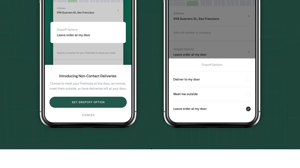 Postmates introduces non-contact deliveries