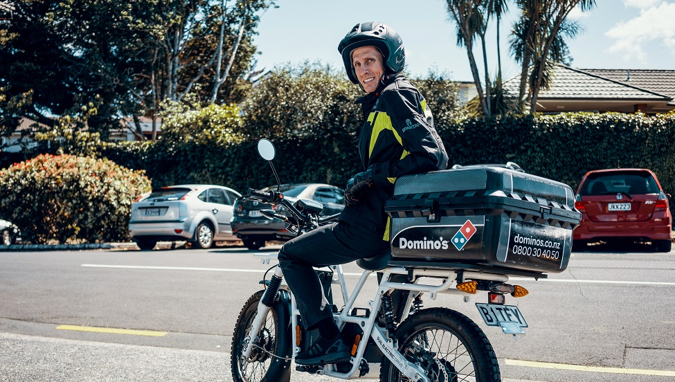 Domino's pizza embraces electric motorbike delivery