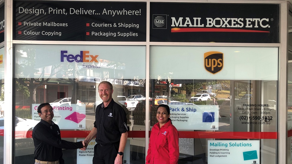 Mail Boxes Etc: we're expecting steady growth over the coming months