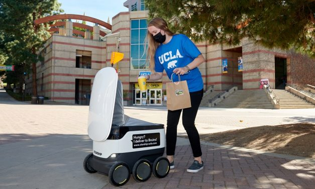 Starship provides autonomous delivery services to UCLA students