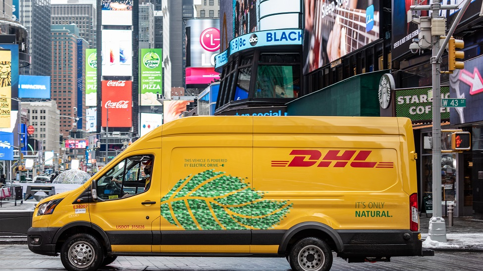 """DHL Express commits to """"clean pickup and delivery solutions"""" in the U.S."""